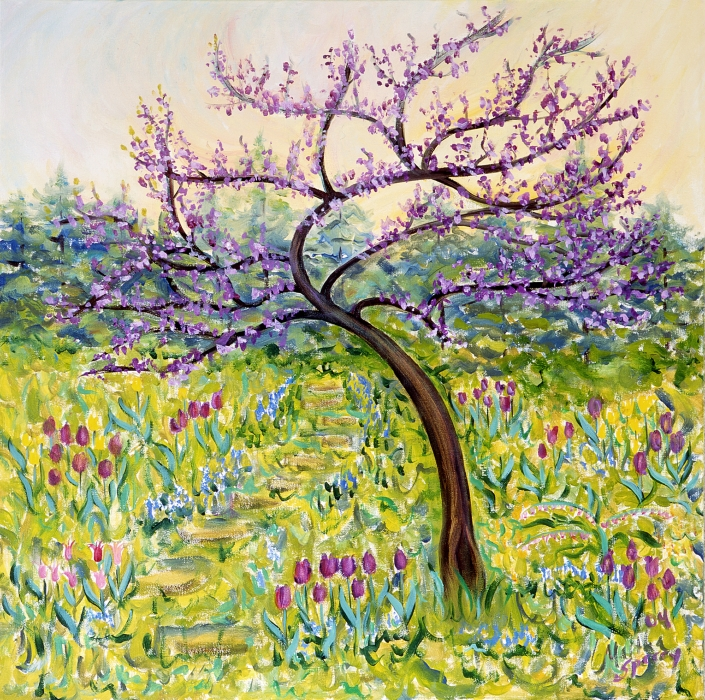 AC14 Redbud Art Card by Martha Sperry