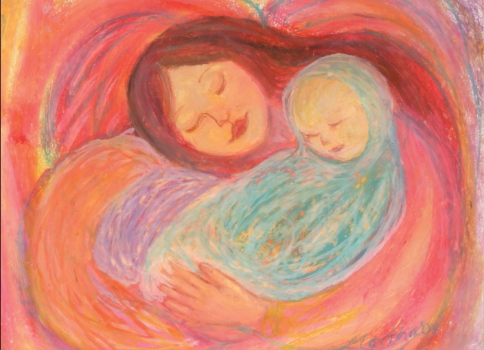 AC15 Mother Baby Art Card by Martha Sperry