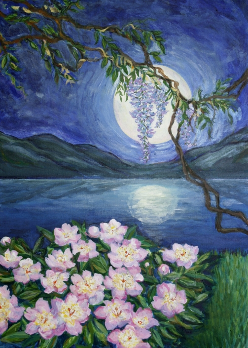 AC3 Moonlight Becomes You Greeting Card by Martha Sperry