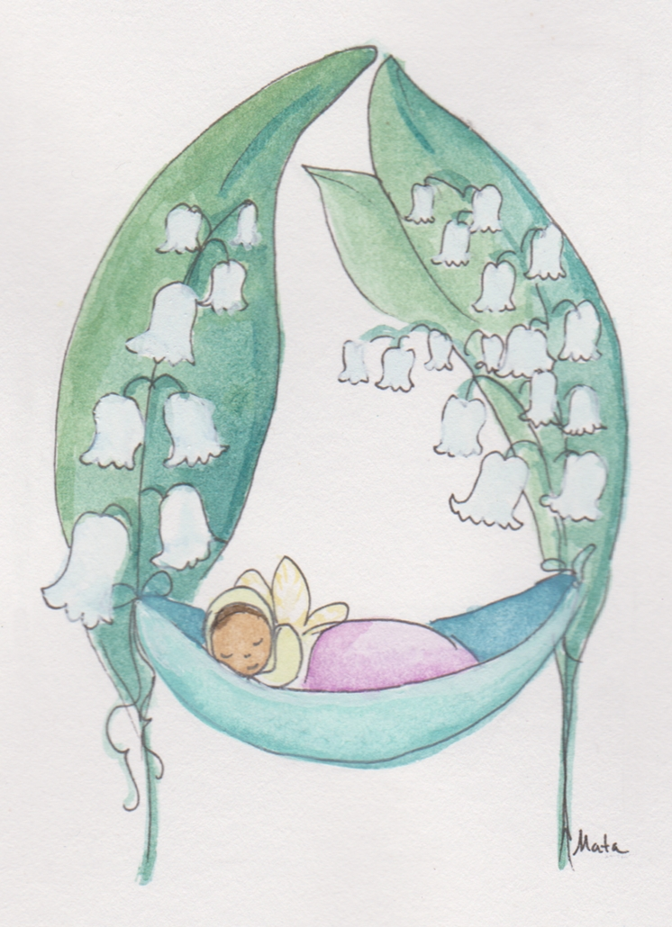 GE18 Lily Fairy Greeting Card by Martha Sperry