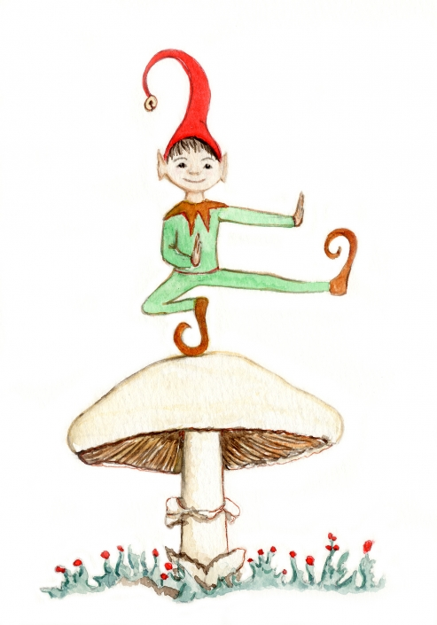 HC3 Elf Greeting Card by Martha Sperry