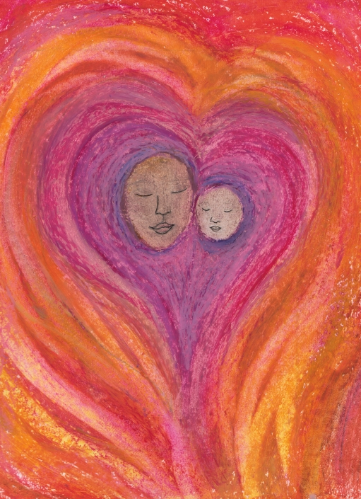 HC7 Mother and Child Heart Card by Martha Sperry