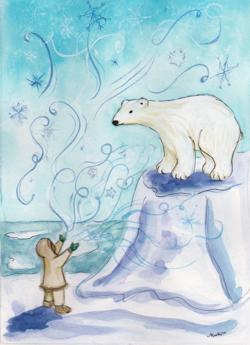 SC1 Polar Bear Greeting Card by Martha Sperry
