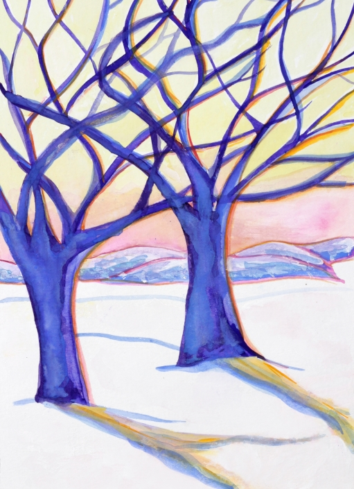 SC12 Winter Trees Greeting Card by Martha Sperry