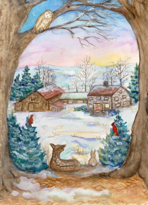 SC7 Happy Home Greeting Card by Martha Sperry