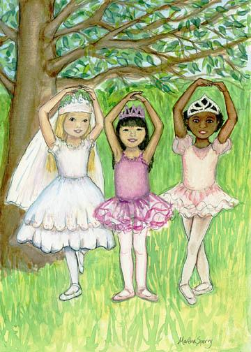 GC1 Ballerinas Greeting Card by Martha Sperry
