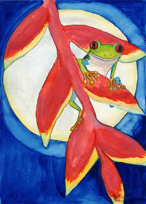GC14 Tree Frog Greeting Card by Martha Sperry