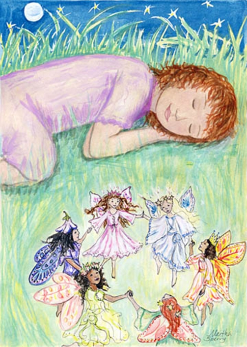 GC3 Fairy Ring Greeting Card by Martha Sperry