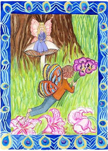 GC4 Fairy Queen Greeting Card by Martha Sperry