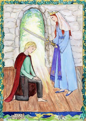 GC7 Young Knight Greeting Card by Martha Sperry