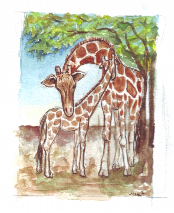 GE22 Giraffes Gift Enclosure by Martha Sperry